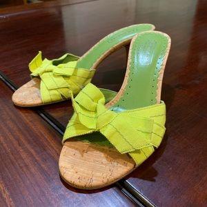 *NEW * Lime Green COACH Kitten Heels 💚
